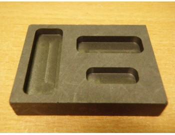 Uhlíková forma na slitky malá